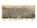 Rome, New York - Panoramic Map Print by  Lantern Press