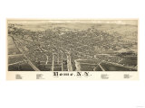 Rome, New York - Panoramic Map Print
