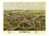 Westerly, Rhode Island - Panoramic Map Print