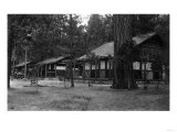 Exterior View of a Camp Curry Bungalow - Yosemite National Park, CA Art