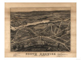 South Berwick, Maine - Panoramic Map Print by  Lantern Press