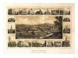 York, Pennsylvania - Panoramic Map Posters