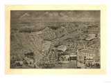 Winchester, Massachusetts - Panoramic Map Posters by  Lantern Press
