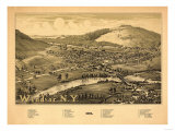Windsor, New York - Panoramic Map Posters by  Lantern Press