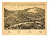 Windsor, New York - Panoramic Map Posters