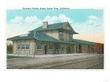 Exterior View of the Southern Pacific Depot - Santa Rosa, CA Prints by  Lantern Press