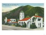 Exterior View of the Motel Inn - San Luis Obispo, CA Prints