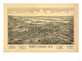 West Chazy, New York - Panoramic Map Posters by  Lantern Press
