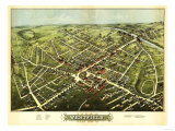 Westfield, Massachusetts - Panoramic Map Posters by  Lantern Press