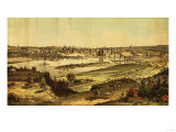 Saint Paul, Minnesota - Panoramic Map Poster