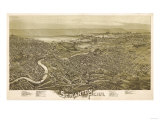 Scranton, Pennsylvania - Panoramic Map Poster