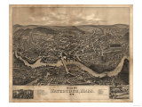 Watertown, Massachusetts - Panoramic Map Poster by  Lantern Press