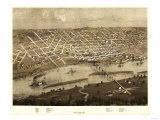 Saint Paul, Minnesota - Panoramic Map Print