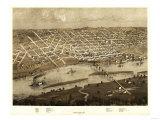 Saint Paul, Minnesota - Panoramic Map Print