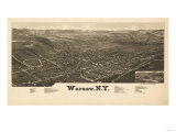 Warsaw, New York - Panoramic Map Print by  Lantern Press