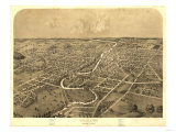 Ypsilanti, Michigan - Panoramic Map Print