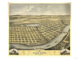 Saint Cloud, Minnesota - Panoramic Map Posters by  Lantern Press