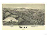 Salem, West Virginia - Panoramic Map Posters
