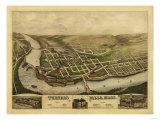 Turners Falls, Massachusetts - Panoramic Map Posters by  Lantern Press