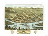 Sauk City, Wisconsin - Panoramic Map Posters by  Lantern Press