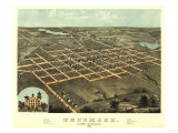 Tecumseh, Michigan - Panoramic Map Posters by  Lantern Press