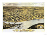 Wyandotte County, Kansas - Panoramic Map Poster von  Lantern Press