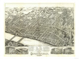 Springfield, Massachusetts - Panoramic Map Posters by  Lantern Press