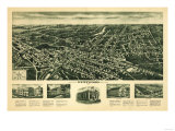 Westwood, New Jersey - Panoramic Map Posters