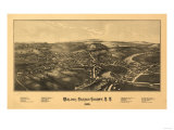 Walden, New York - Panoramic Map Posters by  Lantern Press