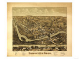 Unionville, Connecticut - Panoramic Map Posters by  Lantern Press