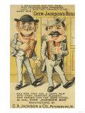 Jackson's Best Chew Advertisement, Happy Pair of Men - Petersburg, VA Premium Giclee Print by  Lantern Press