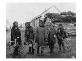 Eskimo Berry Pickers in Nome, Alaska Photograph - Nome, AK Prints