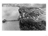 Coupeville, WA View from Air Whidby Island Photograph - Coupeville, WA Prints by  Lantern Press