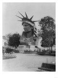 Head of Statue of Liberty in Paris Park Photograph - Paris, France Prints by  Lantern Press