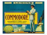 Commodore Lemon Label - Tustin, CA Art