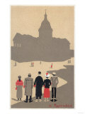 Le Pantheon Art Deco Scene - Paris, France Art by  Lantern Press