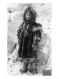 Eskimo Girl in a Parka in Nome, Alaska Photograph - Nome, AK Art