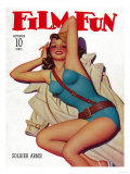 Film Fun Magazine Cover Art by  Lantern Press