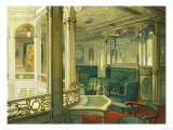 Interior View of the Ship Patricia, Hamburg-America Line Prints by  Lantern Press