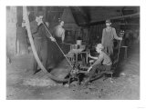 Glass Blower and Mold Boy Photograph - Grafton, WV Print