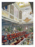 Interior View of Patricia Dining Hall, Hamburg-America Line Prints by  Lantern Press