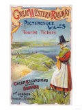 Great Western Railray Promo Tours to Wales from London - Wales, England Art by  Lantern Press