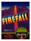 Firefall Vegetable Label - San Jose, CA Art by  Lantern Press