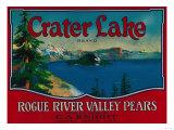 Crater Lake Pear Crate Label - Medford, OR Prints