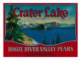 Crater Lake Pear Crate Label - Medford, OR Prints by  Lantern Press