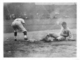Detroit Tiger Playing Sliding into Third Base Baseball Photograph - Detroit, MI Prints by  Lantern Press