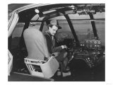 Lantern Press - Howard Hughes in Spruce Goose Wooden Plane Photograph - Los Angeles, CA Obrazy