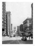Looking East on 11th in Tacoma, WA Photograph - Tacoma, WA Prints by  Lantern Press