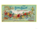 Fleurs D Ethiopie Soap Label - Paris, France Prints by  Lantern Press