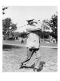 Golfer Ted Ray Swinging a Club Photograph Prints by  Lantern Press
